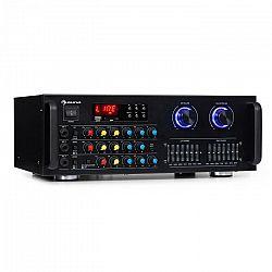 Auna Amp-Pro1 BT, PA zosilňovač, RMS 2 x 50 W, BT, USB, SD, 2-kanálový 7-pásmový ekvalizér