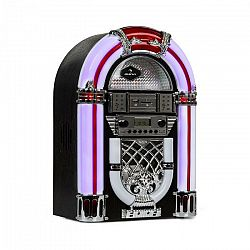 Auna Arizona, jukebox, BT, FM rádio, USB, SD, MP3, CD prehrávač, čierny