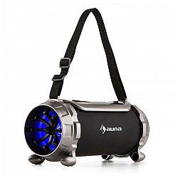 Auna Blaster S, BT reproduktor, mikro SD, 15 W, RMS, AUX, FM, IPX4, ochrana proti striekajúcej vode