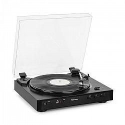 Auna Fullmatic, plne automatický gramofón, USB, predzosilňovač, čierny