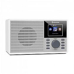 """Auna IR-160, internetové rádio, WiFi, USB, AUX, UPnP, 2.8"""" TFT-displej, diaľkové ovládanie, biela farba"""