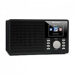 """Auna IR-160, internetové rádio, WLAN, USB, AUX, UPnP, 2,8"""" TFT displej, diaľkový ovládač, čierne"""