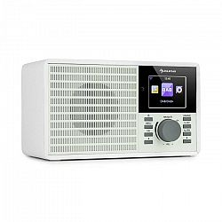 "Auna IR-160 SE, internetové rádio, WLAN, USB, DAB+, FM, 2.8"" HCC displej, aplikácia AirMusic, biele"
