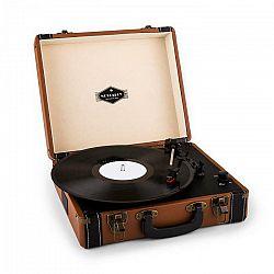 Auna Jerry Lee, retro gramofón, LP, USB, hnedý