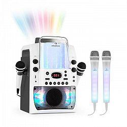 Auna Kara Liquida BT sivá farba + Dazzl mikrofónová sada, karaoke zariadenie, mikrofón, LED osvetlenie
