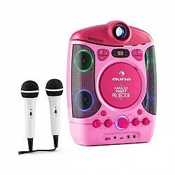 Auna Kara Projectura, ružový, karaoke systém sprojektorom, LED svetelná show