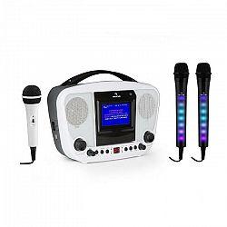 Auna KaraBanga + Dazzl mikrofónová sada, karaoke zariadenie, mikrofón, bluetooth, TFT displej