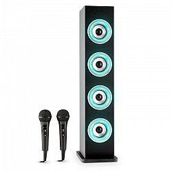 Auna Karaboom LED, čierna, bluetooth reproduktor, USB, AUX, karaoke, 2 mikrofóny