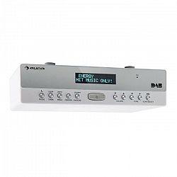 Auna KR-100 DAB kuchynské rádio pod kuchynskú linku, DAB+ Bluetooth, handsfree, biele