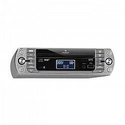 Auna KR-400 CD kuchynské rádio, DAB+/PLL FM rádio, CD/Mp3 prehrávač, strieborné