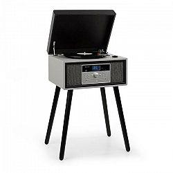 Auna Mary Ann, gramofón, 33/45/78 otáčok/min, CD, DAB+, UKW, BT, USB, čierno/sivý