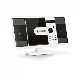 Auna MCD-82 BT, vertikálny stereo systém, DVD/CD, bluetooth, USB/SD, FM, HDMI, biely