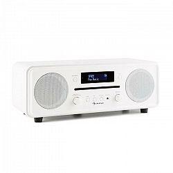 Auna Melodia CD, biele, DAB+/FM stolové rádio, CD prehrávač, bluetooth, alarm, opakované budenie