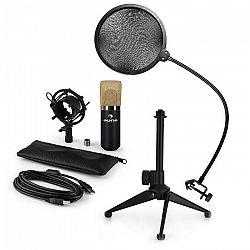 Auna MIC-900BG-LED V2, trojdielna USB mikrofónová sada, kondenzátorový mikrofón + pop-filter + stolný statív