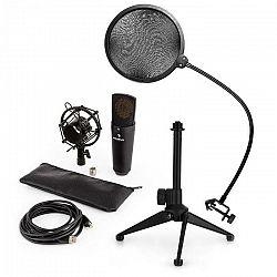 Auna MIC-920B USB mikrofónová sada V2 - kondenzátorový mikrofón, mikrofónový stojan, pop filter