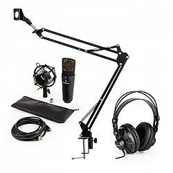 Auna MIC-920B USB mikrofónová sada V3 štúdiové slúchadlá, kondenzátorový mikrofón, mikrofónové rameno