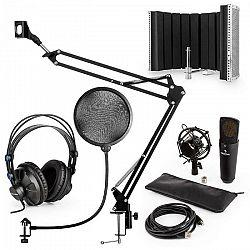 Auna MIC-920B USB mikrofónová sada V5 slúchadlá, mikrofón, mikrofónové rameno , pop filter, mikrofónový panel