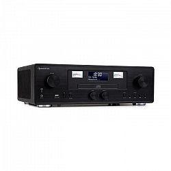 Auna Northfork, retro rádio, CD prehrávač, BT, DAB+, FM, bezdrôtové nabíjanie, čierne