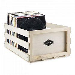 Auna Nostalgie by auna Record Box WD, škatuľa na platne, drevo