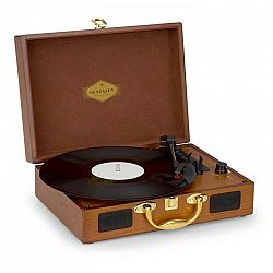 Auna Nostalgy by auna Peggy Sue retro gramofón platne USB AUX vzhľad dreva/zlatá