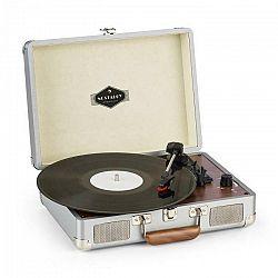 Auna Peggy Sue, gramofón, stereo reproduktory, USB pripojenie, strieborný