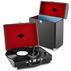 Auna Peggy Sue Record Collector Set black | retro gramofón | kufrík na gramofónové platne