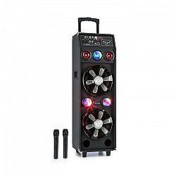 Auna Pro DisGo Box 2100, PA systém, 100 W RMS, BT, SD slot, LED diódy, USB, akumulátor, čierny