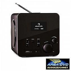Auna Radio Gaga, internetové rádio, WLAN/LAN, DAB/DAB+, FM, USB, AUX