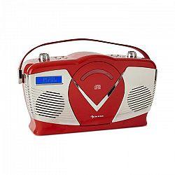 Auna RCD-70 DAB, retro CD rádio, FM, DAB+, CD prehrávač, USB, bluetooth, červené