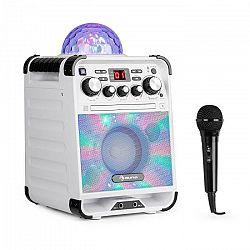 Auna Rockstar LED, karaoke systém, CD prehrávač, bluetooth, AUX, 2 x 6,3 mm, biely