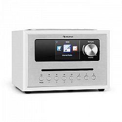 Auna Silver Star CD Cube, rádio, bluetooth, HCC displej, biele