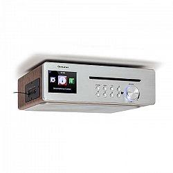 Auna Silverstar Chef, kuchynské rádio, 20 W max., CD, BT, USB, internet/DAB+/FM, strieborné