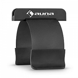 Auna SmartHold, čierna, stojan na tablet a smartfón, kov, guma, flexibilný, prenosný
