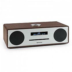 Auna Standford DAB-CD-rádio DAB+ bluetooth USB MP3 AUX FM, farba vlašského orecha