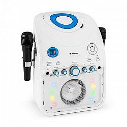 Auna StarMaker, karaoke systém, CD, bluetooth, AUX, LED svetelný efekt, 2 x mikrofón