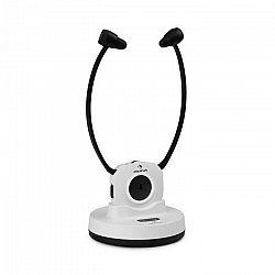 Auna Stereoskop, bezdrôtové slúchadlá so stetoskopickou konštrukciou, do uší, 20 m, 2,4 GHz, TV/HiFi/CD/MP3, akumulátor, biele