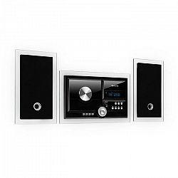 Auna Stereosonic, stereo systém, nástenná montáž, CD prehrávač, USB, BT, čierny