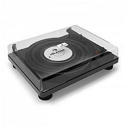 Auna TT Classic BK, lesklý čierny, retro gramofón, USB, linkový výstup, reproduktor