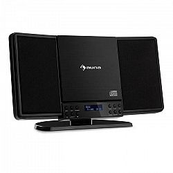 Auna V14-DAB, Vertikálny stereo systém, CD FM a DAB+ tuner, BT, čierny