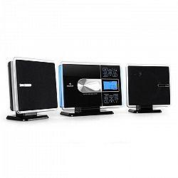 Auna VCP-191, USB stereo systém, MP3, CD, SD, AUX, FM, dotykový ovládací panel, čierny/strieborný