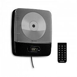 Auna Vertiplay, CD prehrávač, bluetooth, nočné svetlo, FM rádio, AUX, digitálne hodiny, čierny