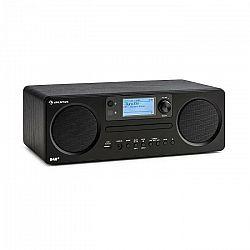 Auna Worldwide CD, internetové rádio, Spotify Connect, ovládanie cez aplikáciu, bluetooth, čierne