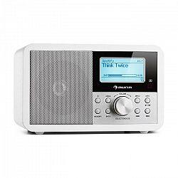 Auna Worldwide Mini, internetové rádio, WLAN, sieťový prehrávač, USB, MP3, AUX, FM tuner, biela farba