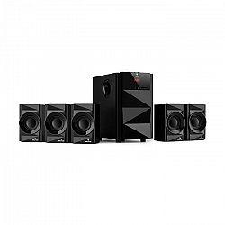 Auna Z-Plus, 5.1 reproduktorový systém, 70 W, OneSide subwoofer, BT, USB, SD