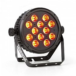 Beamz BT300, 12x12W, FlatPAR reflektor, RGBAW LED 6 v 1, DMX, IR, diaľkový ovládač