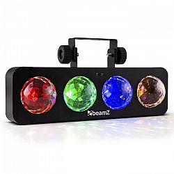 Beamz DJ Bank BX, 20W, LED svetelný efekt so 4 RGBA LED, diaľkovým ovládaním, čierny