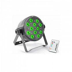 Beamz FlatPAR, 12 x 3 W, tri color LED, DMX IR, vrátane diaľkového ovládania