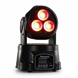 Beamz MHL-45 DMX Mini, pohyblivá hlava, wash, 3 x 15 W, COB LED, DMX