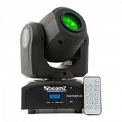 Beamz Panther 40, 45 W, LED otočná hlava, pohyblivá hlavica, moving-head, 7 vzorov, 7 farieb, DMX, infračervený diaľkový ovládač