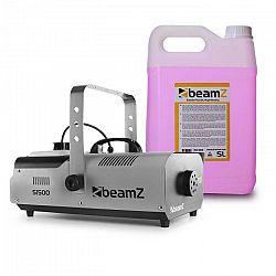 Beamz S1500, výrobník hmly, vrátane 5 litrov hmlovej tekutiny, 1500 W, DMX